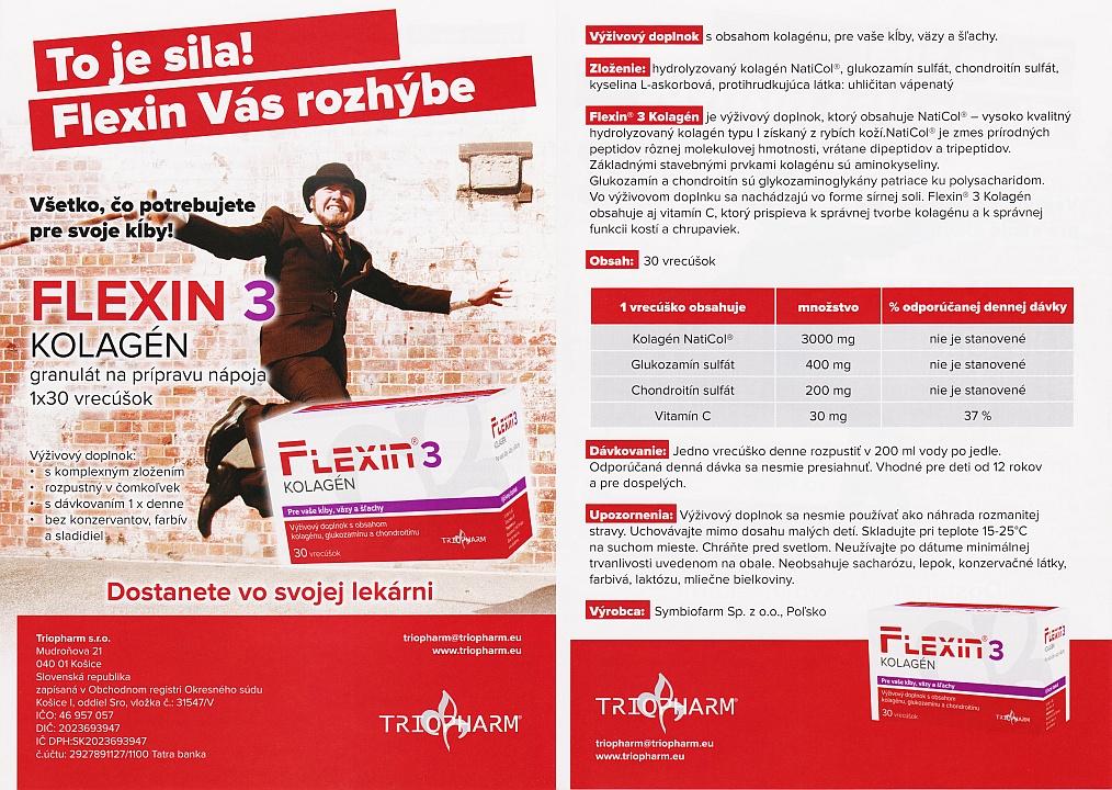 Flexin® 3 Kolagén – leták